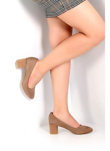 Pembe Potin Ayakkabı Vizon